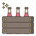 brewery, pack, six icon