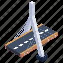 bridge, overpass, cable stayed bridge, erasmusbrug bridge, netherlands bridge