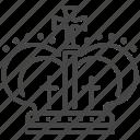 british, corona, crown, diadem, england, uk icon