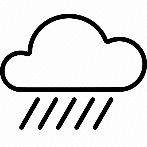 cloud, downpour, heavy, rain, storm, weather icon
