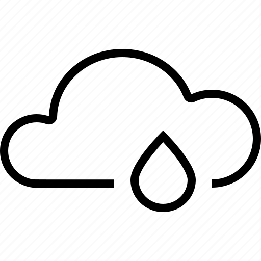 cloud, drizzle, drop, rain, weather icon