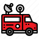 broadcast, car, report, van, vehicle