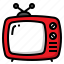 antenna, broadcasting, television, tv, watch icon