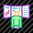 advice, board, broker, businessman, observing, person, promotion