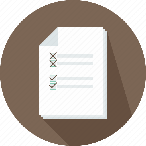 checklist, commerce, letter, lines, paper, text, wishlist icon