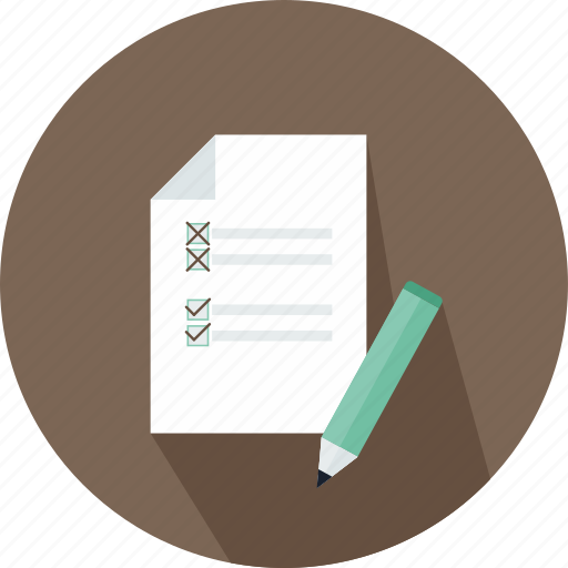 checklist, commerce, letter, paper, pen, text, wishlist icon