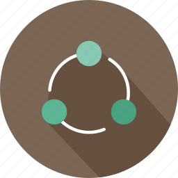 circles, interface, media, multimedia, network, shapes, share icon