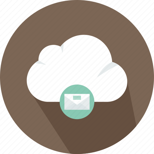 cloud, download, electronics, file, mail, storage, technology icon
