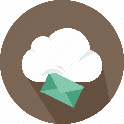 cloud, download, email, file, mail, storage, technology icon