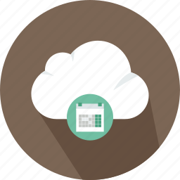 calendar, cloud, download, file, mail, storage, technology icon