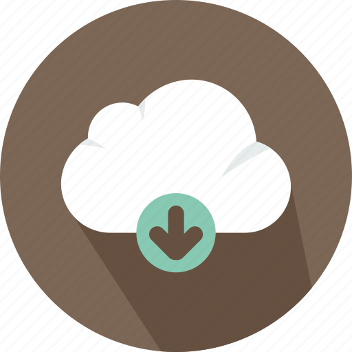 cloud, data, download, file, storage, technology icon