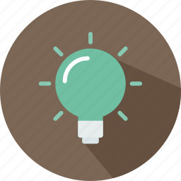 bulb, electricity, idea, illumination, invention, light, technology icon