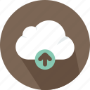 cloud, data, electronics, file, storage, technology, upload icon