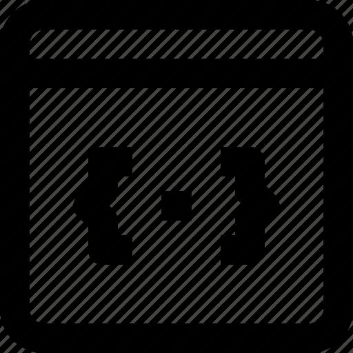 browser, code, development, interface, programming, web icon