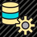 database, internet, setting, web icon