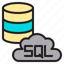 database, internet, sql, web icon
