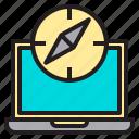 internet, laptop, speed, web icon