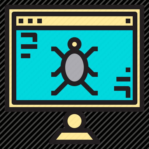 internet, online, site, virus, web icon