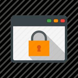 browser, lock, web icon