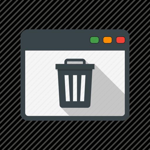browser, delete, web icon
