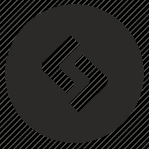 app, code, function, program, round icon