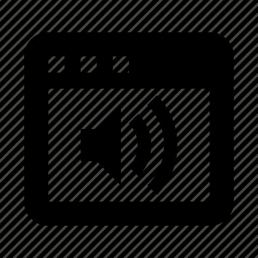 audio, browser, internet, sound, speaker, volume, web icon