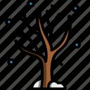 tree, snowfall, snowy, season, winter, snow, plant