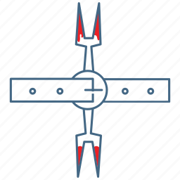 brutal, heretics fork, medieval, tool, torment, torture, torture equipment icon