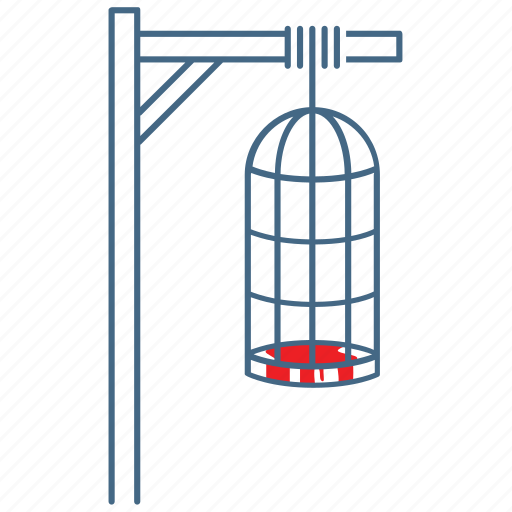 brutal, cage, coffin torture, gibbet, torment, torture, torture equipment icon