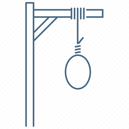 death, gallows, hanging, hangman, penalty, suicide, torture icon