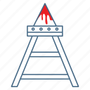 cruel, judas chair, judas cradle, punish, torment, torture, torture equipment icon