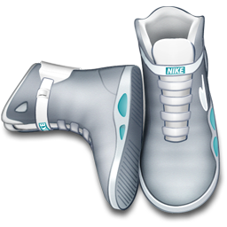 back to the future, future, shoes icon