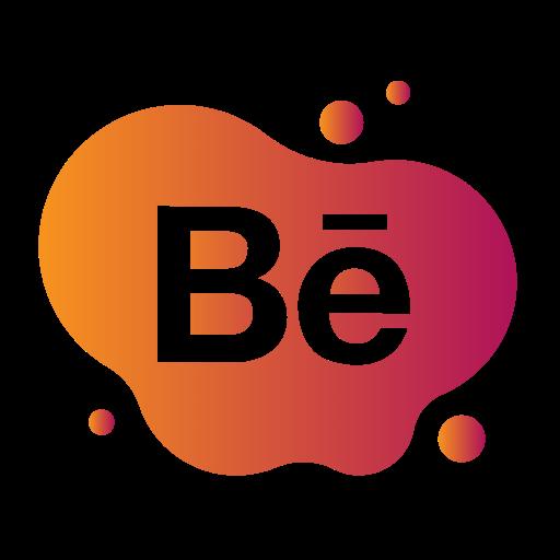 aquarelle, behance, bubble, gradient, liquid, pink, watercolour, yellow icon