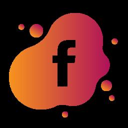 aquarelle, bubble, facebook, gradient, liquid, pink, watercolour, yellow icon