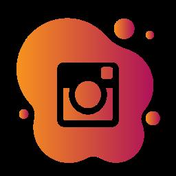 aquarelle, bubble, gradient, instagram, liquid, pink, watercolour, yellow icon