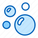air, bubbles, soap, water icon