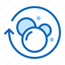 air, bubbles, gel, soap, water icon