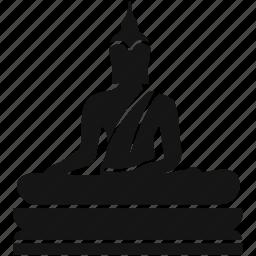 buddha, human, label, monument, skin icon