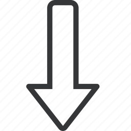 arrow, bottom, direction icon