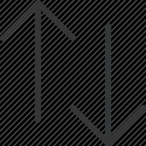 arrow, down, switch, two ways, up icon