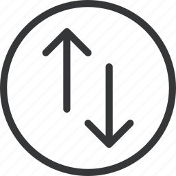 arrow, circle, down, up icon