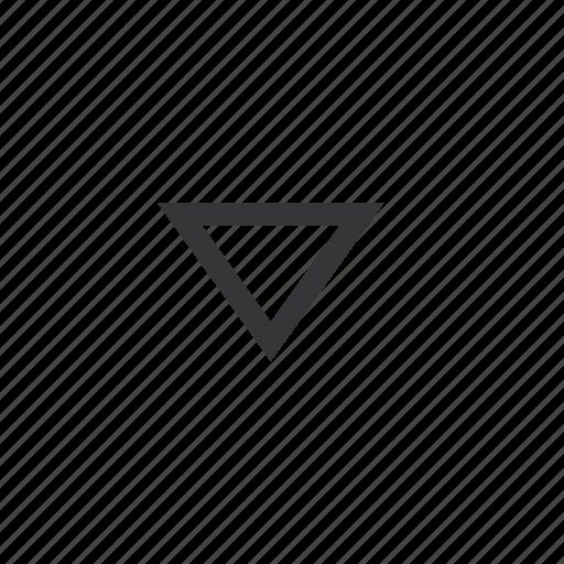 a, bottom, chevron icon