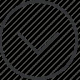bottom, chevron, circle icon