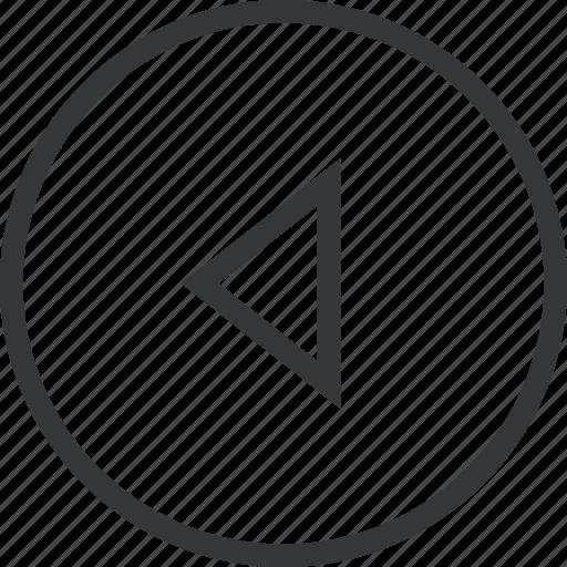 arrow, chevron, circle, left icon