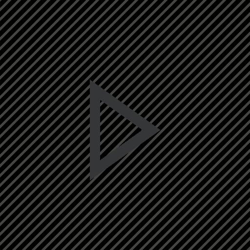 a, chevron, right icon