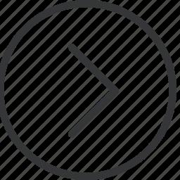 chevron, circle, right icon