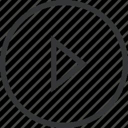 arrow, chevron, circle, right icon