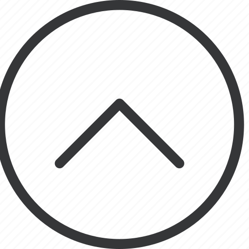 arrow, chevron, circle, top icon