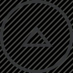 chevron, circle, top icon