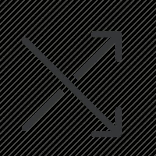 arrow, arrows, intersected, two ways icon